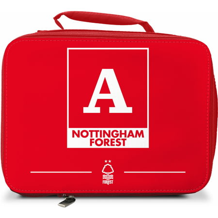Personalised Nottingham Forest FC Monogram Insulated Lunch Bag - Red