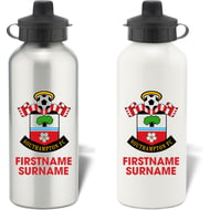 Personalised Southampton FC Bold Crest Aluminium Sports Water Bottle