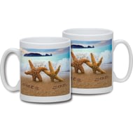 Personalised Starfish Couple Ceramic Mug
