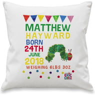Personalised Very Hungry Caterpillar New Arrival Cushion