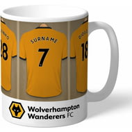 Personalised Wolves Dressing Room Shirts Mug
