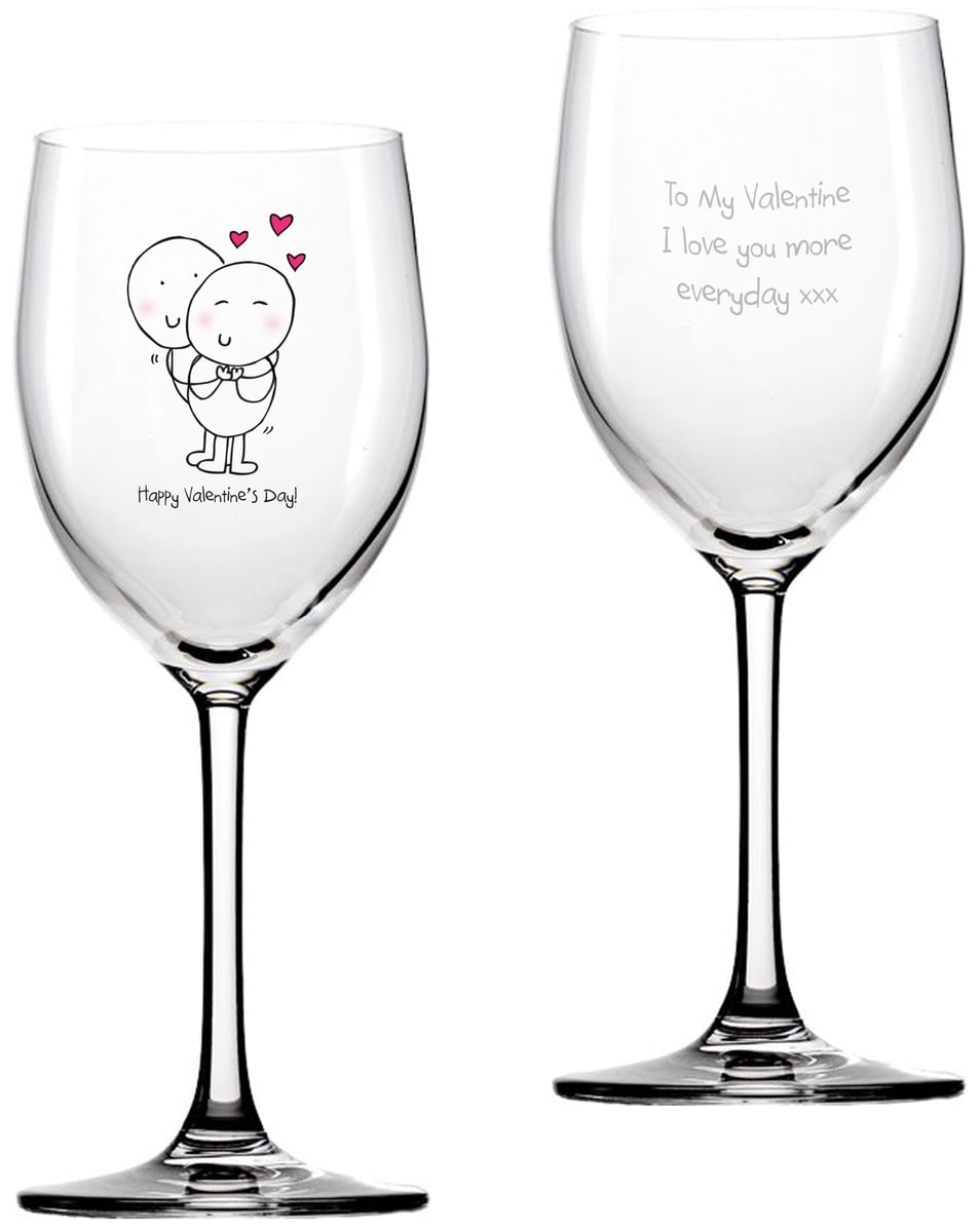 Buy Your Personalised Chilli Bubble S Valentines Day Wine Glass
