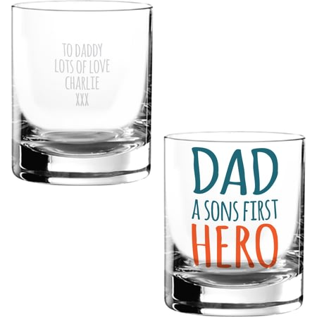 Personalised First Hero Glass Tumbler