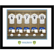 Personalised Leeds United FC Dressing Room Shirts Framed Print