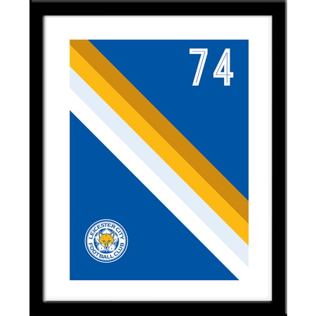 Personalised Leicester City Stripe Framed Print