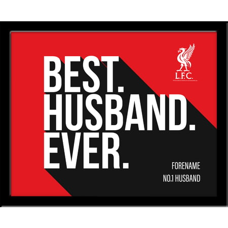 Personalised Liverpool FC Best Husband Ever 10x8 Photo Framed