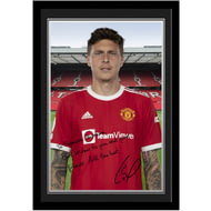 Personalised Manchester United FC Lindelof Autograph Photo Framed