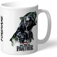 Personalised Marvel Black Panther Double Exposure Mug
