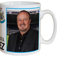 Personalised Newcastle United FC Benitez Autograph Mug