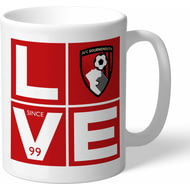 Personalised AFC Bournemouth Love Mug