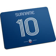 Personalised Bolton Wanderers Retro Shirt Mouse Mat