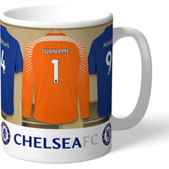 Personalised Chelsea FC Goalkeeper Dressing Room Shirts Mug