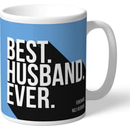 Personalised Manchester City FC Best Husband Ever Mug