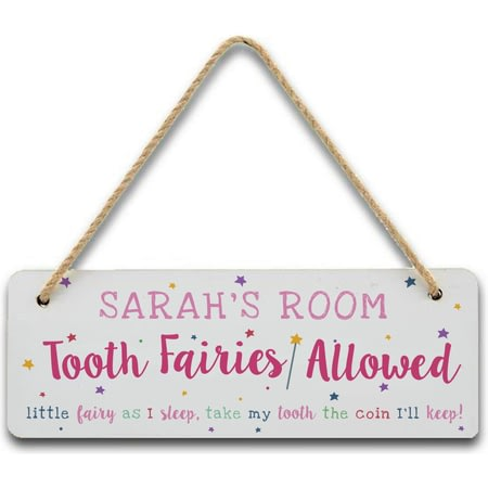 Personalised Tooth Fairy Door Sign