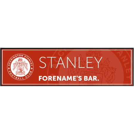 Personalised Accrington Stanley Crest Large Rubber Bar Runner
