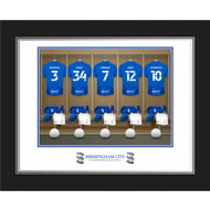Personalised Birmingham City FC Dressing Room Shirts Photo Folder