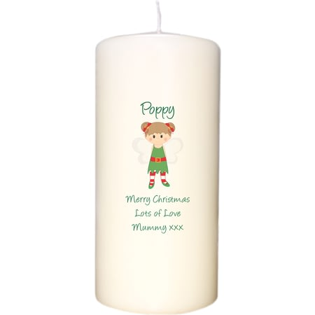 Personalised Christmas Pixie Candle