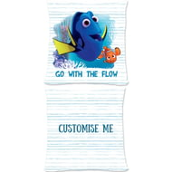 Personalised Disney Finding Dory 'Go With The Flow' Cushion - 45x45cm