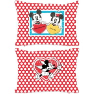 Personalised Disney Valentines Mickey And Minnie Polka Dot Rectangle Cushion - 45x30cm