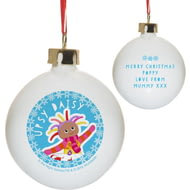 Personalised In The Night Garden Upsy Daisy Snowtime Ceramic Bauble
