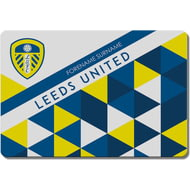 Personalised Leeds United FC Patterned Rubber Backed Large Floor Mat - 60x90cm