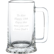 Personalised Pint Glass Stern Tankard