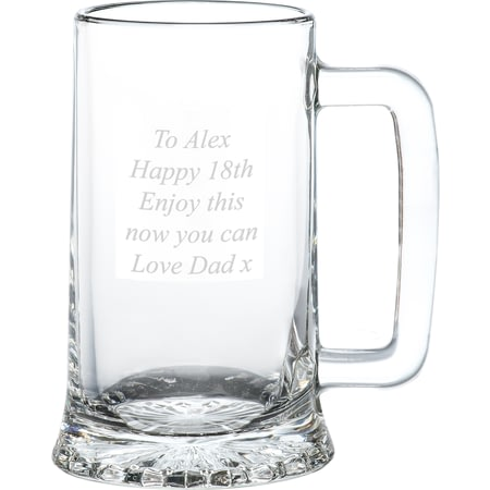 Personalised Engraved Pint Glass Stern Tankard