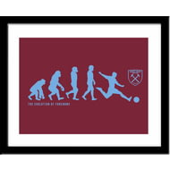 Personalised West Ham United Evolution Framed Print
