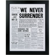 Personalised Front Page Newspaper Re-Print From Any Date