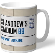 Personalised Birmingham City FC Street Sign Mug