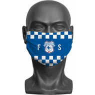 Personalised Cardiff City FC Initials Adult Face Mask
