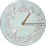Personalised Floral Butterfly Clock