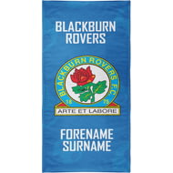 Personalised Blackburn Rovers FC Crest Bath Towel - 70cm X 140cm