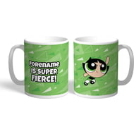 Personalised Powerpuff Girls Buttercup Pattern Mug