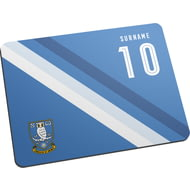 Personalised Sheffield Wednesday Stripe Mouse Mat