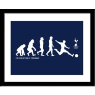 Personalised Tottenham Hotspur Evolution Framed Print