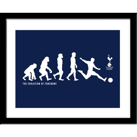 Personalised Tottenham Hotspur FC Evolution Framed Print