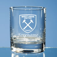 Personalised West Ham United FC Crest Whisky Glass