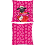 Personalised Shaun The Sheep Valentines 'Be My Valentine' Cushion - 45x45cm