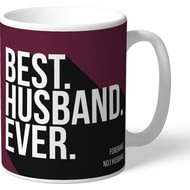 Personalised Burnley Best Husband Ever Mug