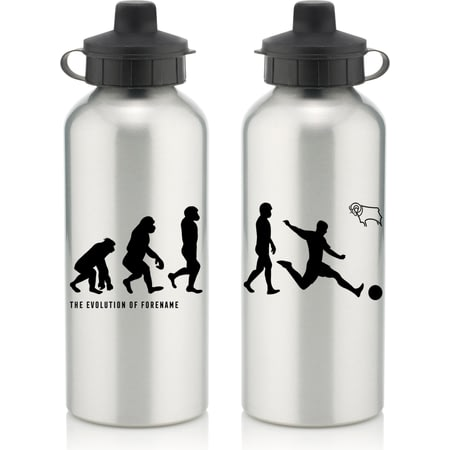 Personalised Derby County Player Evolution Aluminium Sports Water Bottle