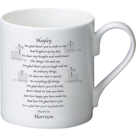 Personalised Godmother Poem Ceramic Mug