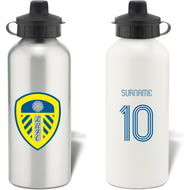 Personalised Leeds United FC Retro Shirt Aluminium Sports Water Bottle