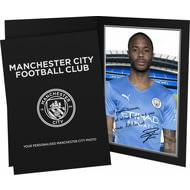 Personalised Manchester City FC Sterling Autograph Photo Folder