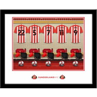 Personalised Sunderland AFC Dressing Room Shirts Framed Print
