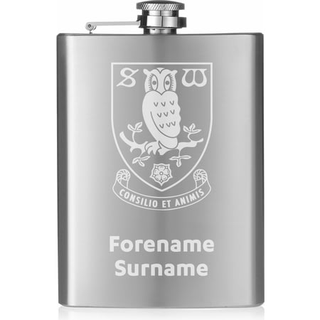Personalised Sheffield Wednesday FC Crest Hip Flask
