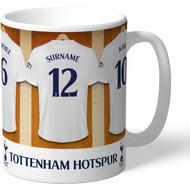 Personalised Tottenham Hotspur FC Dressing Room Shirts Mug