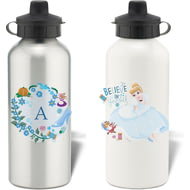 Personalised Disney Princess Cinderella Initial Water Bottle