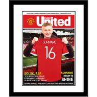 Personalised Manchester United FC Magazine Front Cover Framed Print
