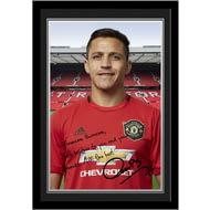 Personalised Manchester United FC Sanchez Autograph Photo Framed